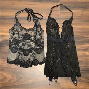 NWT Victoria's Secret xs lingerie corset sexy lace